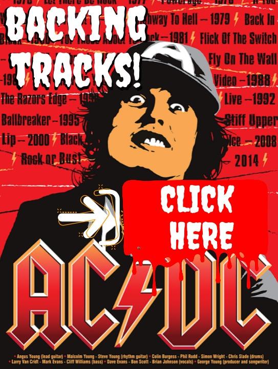 AC DC Guitar Backing Tracks