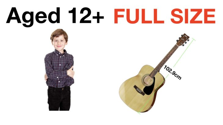 What size of guitar for a 12 year old?